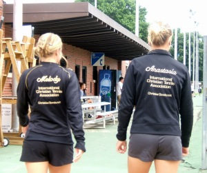 Melody Snelen (USA) and Anastasia Kharchenko (Ukraine) of ICTA Women's Pro Tennis Team