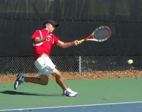 ICTA Fulltime Academy Student, Luke, from Costa Rica, Ripping a Forehand.