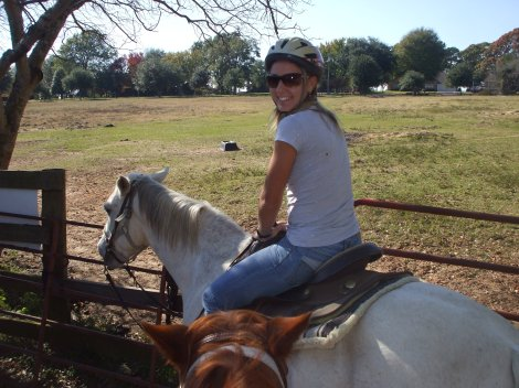 """Anastasia Kharchenko, Scott's """"adopted daughter"""" riding a horse for the first time ever!"""