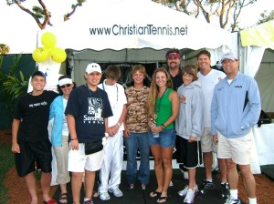 ICTA Academy Students and volunteers at ICTA Outreach booth during world's 5th largest pro tournament!  Faith & Actions!