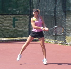 ICTA Academy's WTA Ranked Fulltime Student, Anastasia Kharchenko from Ukraine, Returning Serve As She Prepares For a 3 Week ICTA Women's Pro Team Tour in Peru.