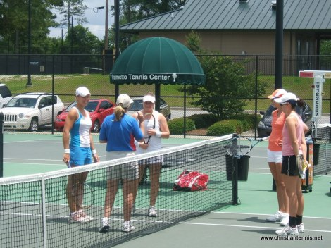 My player Anastasia Kharchenko and Vasilina Bardina competing in main draw doubs.